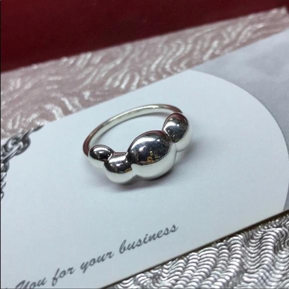 676ffbc40 Pandora Jewelry   Retired Liquid Silver 4 Bubble Ring   Poshmark